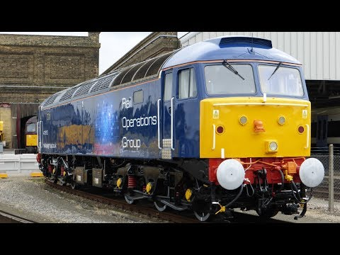 Rail Operations Group 47813 & 37884 pass Denmark Hill light …