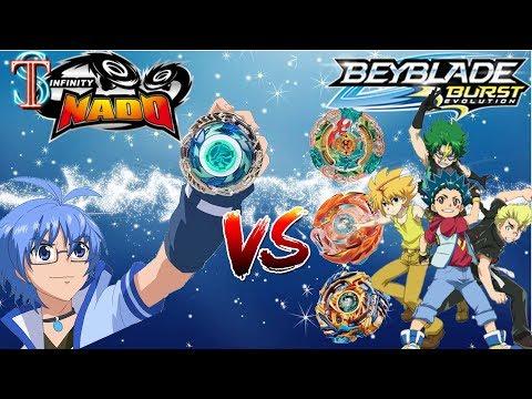Битва Бейблэйд VS Инфинити Надо - кто сильнее? Beyblade Burst vs Infinity Nado   Супер Тима
