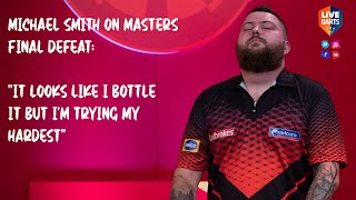 "Michael Smith denies ""bottling it"" in 2020 Masters final defeat"