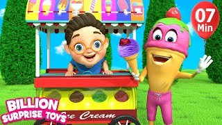 Little Babies ICE CREAM | Children Songs | 3D Baby Nursery Rhyme & Kids Song