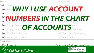 Why use Account Numbers in the Chart of Accounts