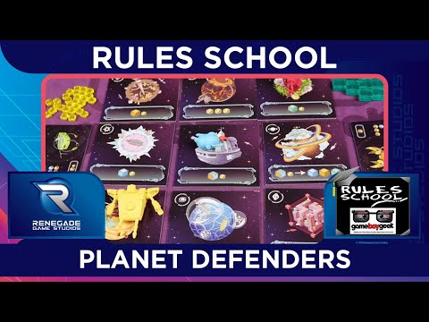 Learn How To Setup & Play Planet Defenders (Rules School) with the Game Boy Geek
