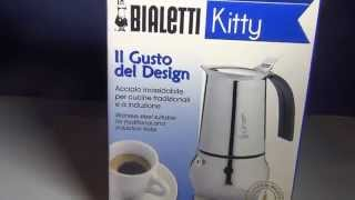 Bialetti Kitty Nera 4 Cup Espresso Coffee Maker in Stainless Steel review