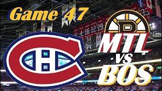 NHL - Montreal Canadiens vs Boston Bruins - Hockey Day in Canada! - January 20, 2018
