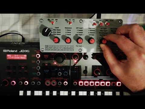XiMidi Controller for Roland JD-Xi DEMO-2: Keyboard Splitting & Filter Types (INFO on SUBTITLES)