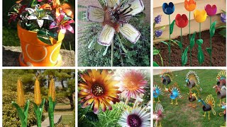 Decorative Metal Garden Art Flower Ideas
