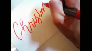 Christmas Card/Envelope Calligraphy