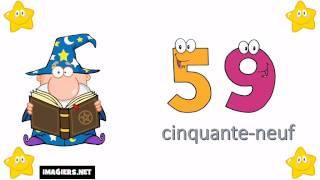 Смотреть онлайн Числа на французском языке от 1 до 100 с произношением