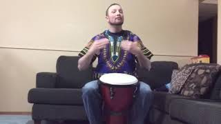 Djembe rhythms for Grasslands Chant and He Lives In You.