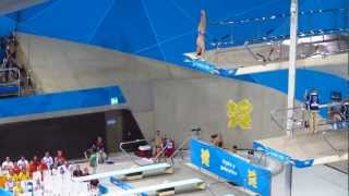 Handstand back 3 flip in pike position in Men's Diving 10m Semi Final London Olympics
