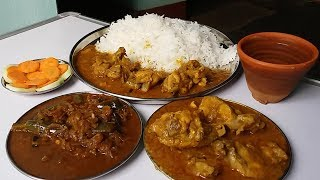 Chicken Gravy Eating With Basmati Rice Good Food To Eat