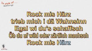 Beatrice Egli   Rock Mis Härz   Instrumental Und Karaoke By Rolf Rattay