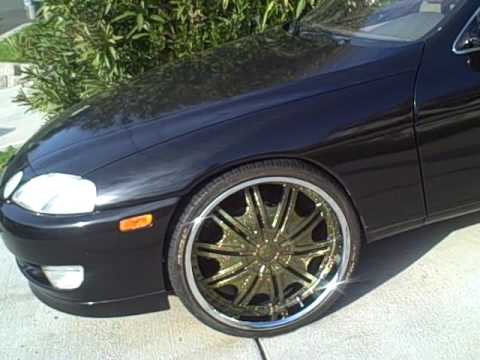 Budget Muscle 1994 Lexus SC400 on 22in Gold Gio Wheels