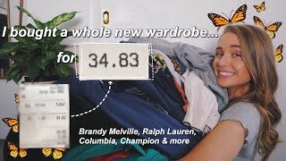 BACK TO SCHOOL CLOTHING HAUL 2019 // *extreme thrifting*