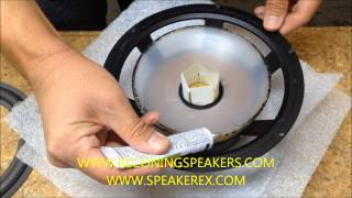 How to Refoam a Speaker with a Polypropylene Cone