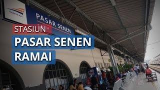 Stasiun Pasar Senen Ramai Penumpang, Tak Efektif Realisasikan Jarak Sosial