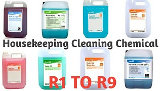 Housekeeping Cleaning Agents | Taski Chemicals (R1 To R9) Uses | Hotel Management Knowledge Video 3