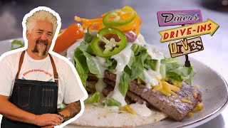 Guy Fieri Tries A Canadian East Coast Donair Sandwich | Diners, Drive-ins And Dives