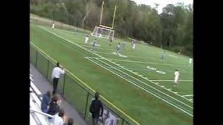 preview picture of video 'Purchase College Men's Soccer:  Blaise Bourgeois diving header goal'