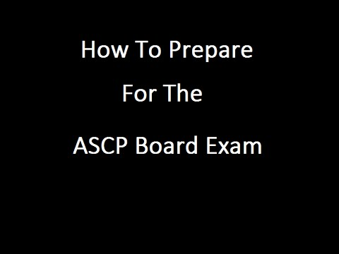 How To Prepare For The ASCP EXAM - YouTube