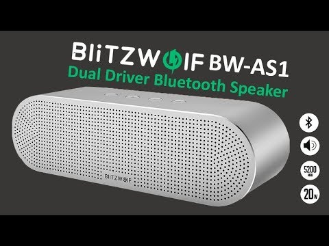 BlitzWolf BW AS1- Краща портативна акустика. Розпакування і огляд BlitzWolf BW AS1
