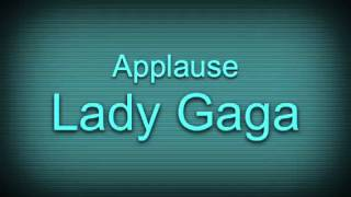 Lady Gaga- Applause (sped up)