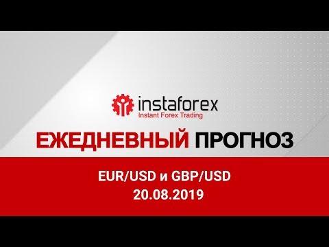 InstaForex Analytics: Покупатели евро и фунта пытаются вернуться в рынок. Видео-прогноз Форекс на 20 августа