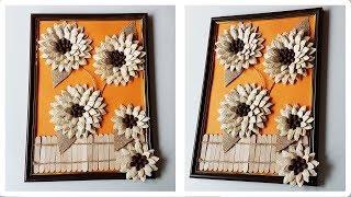How To DIY Pumpkin Seeds Decoration Craft Tutorial   Как сделать декорацию из тыквенных семечек