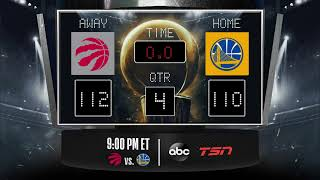 Raptors @ Warriors LIVE Scoreboard   Join The Conversation And Catch All The Action On #NBAonABC!