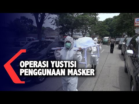 operasi yustisi penggunaan masker di medan