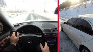 2004 Mercedes-Benz W211 E240 Winter Driving + Music + 2014 Mercedes-Benz W212 E200
