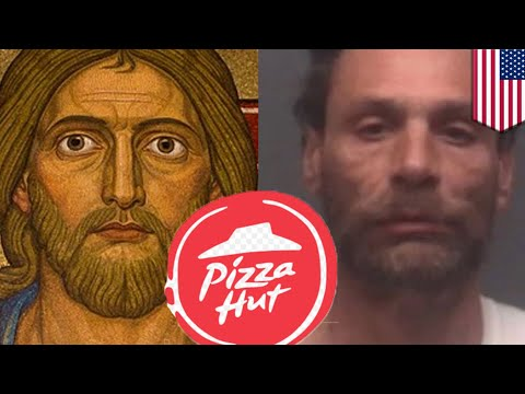 "Video: ""I was starving to death"" - man breaks into Pizza Hut claiming to be Jesus"