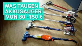 Günstige AKKU-STAUBSAUGER im TEST - Was können AKKUSAUGER BIS 150 EURO?