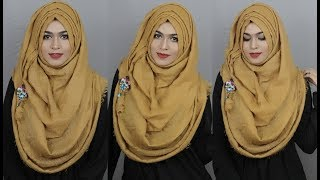 Without Inner Cap Layer Hijab Style For Round Face| MUNA