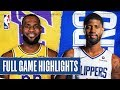 Lakers At Clippers Full Game Highlights March 8 2020