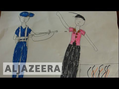 Drawings by Rohingya refugee children reveal the horrific experiences they've suffered