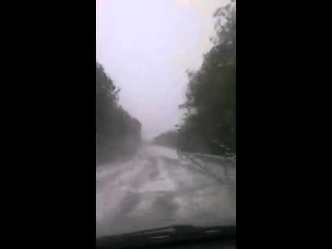 Vídeo de la granizada en Pinares. / SN