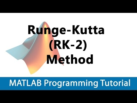 MATLAB Programming Tutorial #34 Runge-Kutta (RK-2) Method