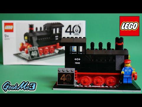 Vidéo LEGO Objets divers 40370 : LEGO Trains 40ème anniversaire