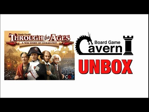 """Board Game Cavern unboxes """"Through The Ages"""""""