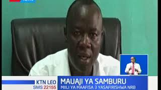 Miili ya maafisa wa polisi waliouwawa na wavamizi wa mifugo Samburu imesafirishwa Nairobi