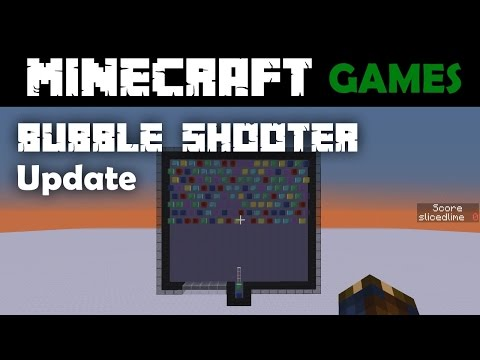 Minecraft Bubble Shooter Minigame Update