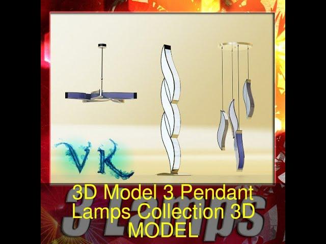 3D Model 3 Pendant Lamps Collection