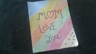 how to make a easy card for your mom || mummy ke liye greeting || mom birthday card
