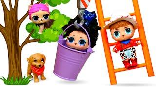 Spielspaß mit LOL Surprise Puppen. Die LOL Puppen retten ihr Kätzchen. Tolles Video für Kinder