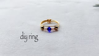 Diy Ring/how To Make Simple And Easy Stackable Ring At Home/wire Wrapped Ring/handmade Ring