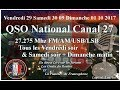 Samedi 30 Septembre 2017 QSO National du canal 27