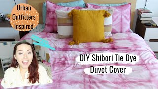 DIY Shibori Tie Dye Duvet Cover | How I Made Urban Outfitters Bedding Cheaply!