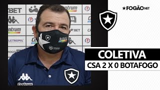 Coletiva | CSA 2 x 0 Botafogo | Enderson pede tranquilidade e defende Diego Loureiro
