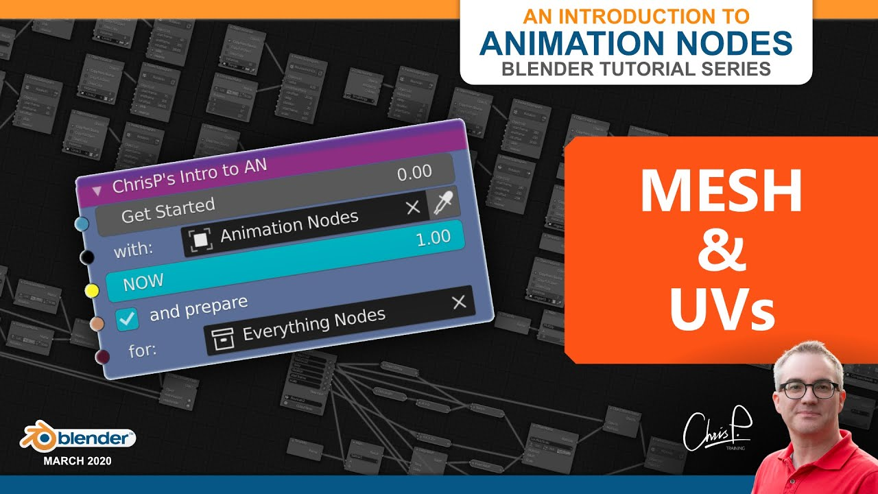[08 Mesh & UVs] Introduction to Animation Nodes Tutorial Series for Beginners